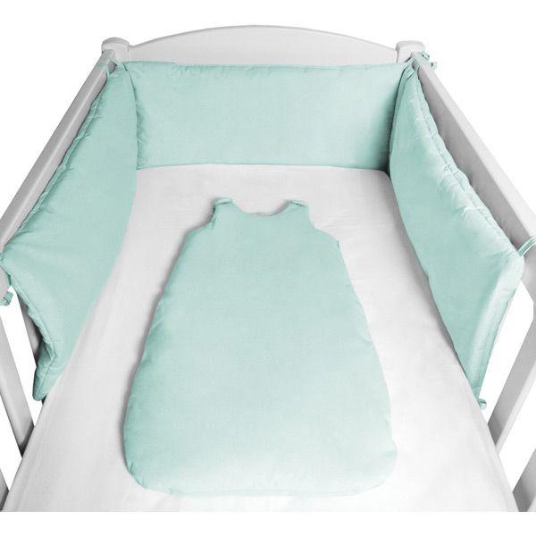 tour de lit pop vert menthe nanelle chambre b b 2. Black Bedroom Furniture Sets. Home Design Ideas