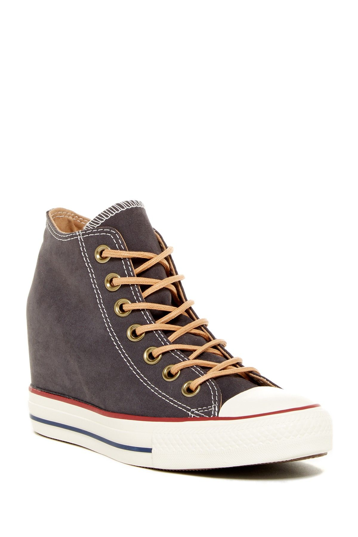 converse chuck taylor all star lux wedge mid Brown