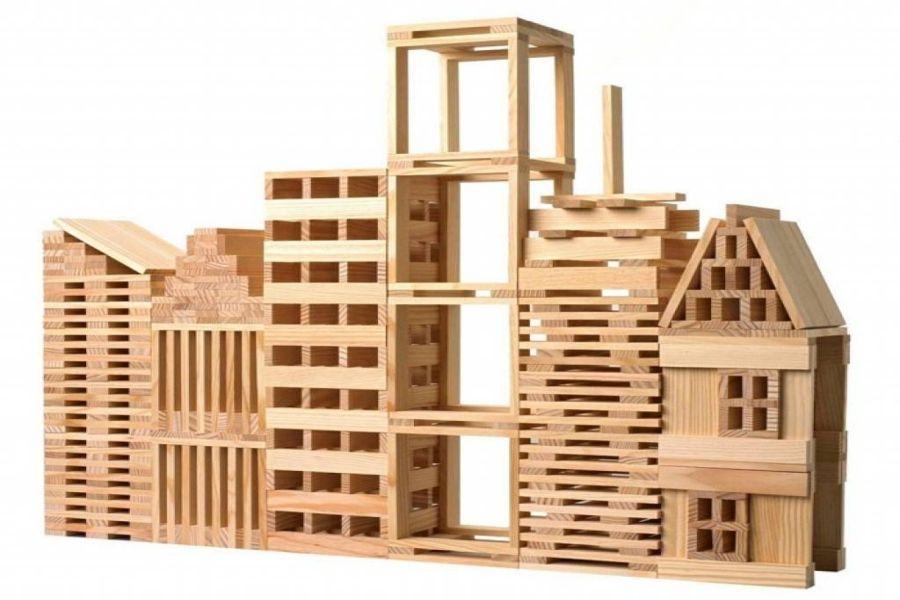 200 KAPLA pas cher et neuf, à moins de 15 euros   Kapla, Blocs de construction en bois, Modele kapla