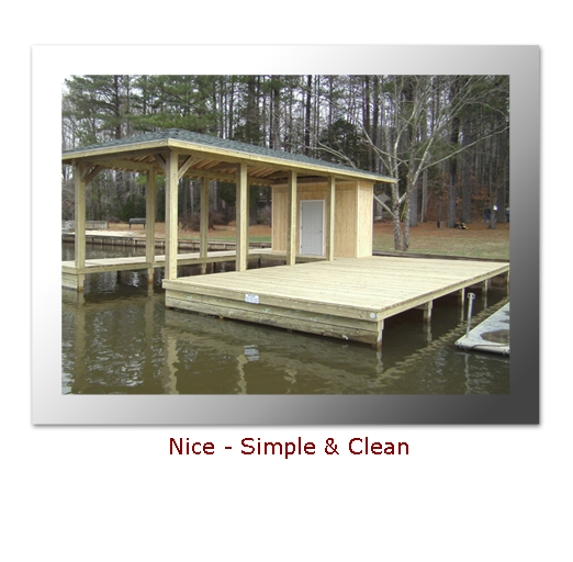 Nice Simple Boathouse Design on Lake Gaston | My Style | Pinterest