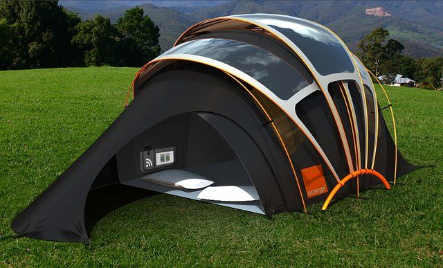 Orange Solar Tent with wifi heating floor and charging your devices & Orange Solar Tent with wifi heating floor and charging your ...