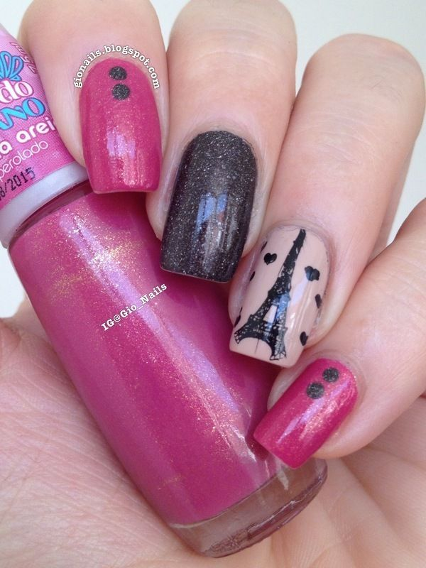 Cute I love Paris Nail Art Collections   Paris nail art, Paris nails ...