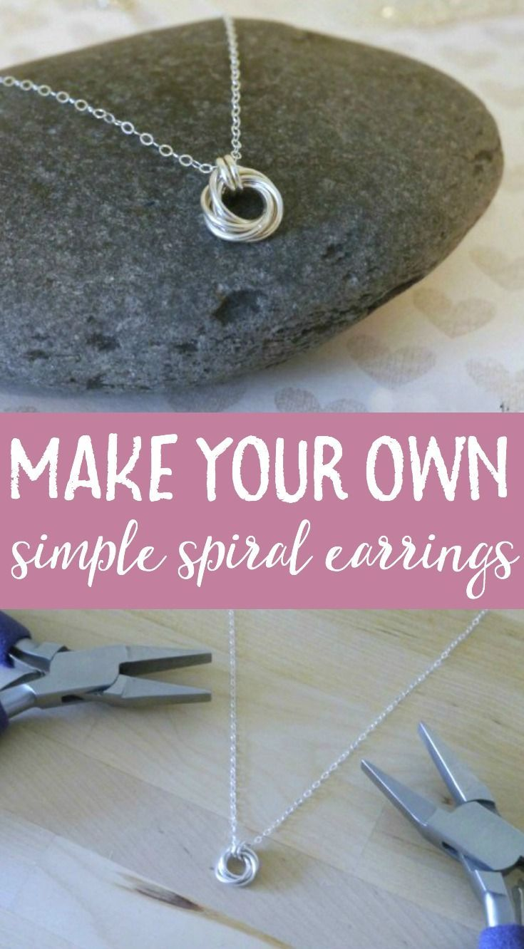 Learn to make your own jewelry with this simple tutorial diy create your own necklace with this simple but beautiful diy tutorial featuring an elegant spiral pendant aloadofball Images