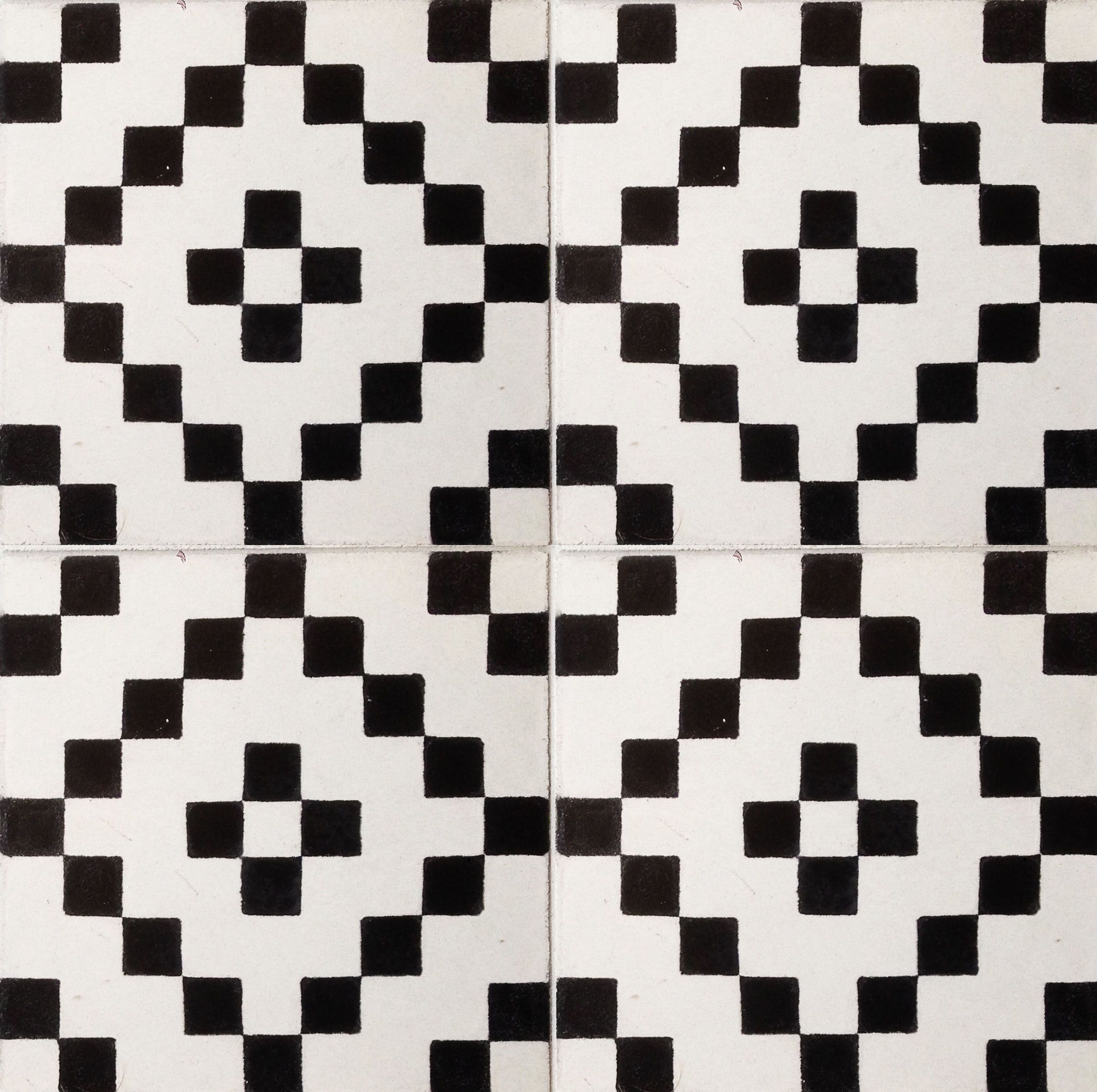 Cubit bw encaustic ceramic tiles white and black floor tile cubit bw encaustic ceramic tiles dailygadgetfo Gallery