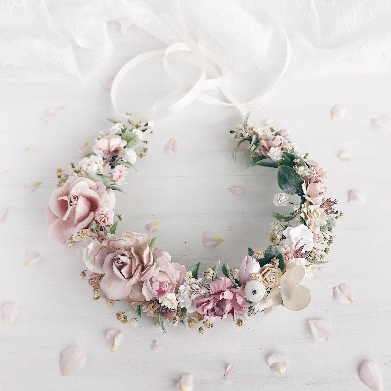 Blumenkrone Erroten Blumenkrone Blume Hochzeit Krone Braut Etsy Bridal Floral Crown Bridal Flower Crown Floral Crown Wedding