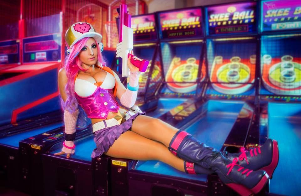 jessica nigri arcade miss fortune cosplay league of