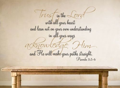 Trust in the lord proverb wall decal also best art images on pinterest vinyl quotes bedroom rh