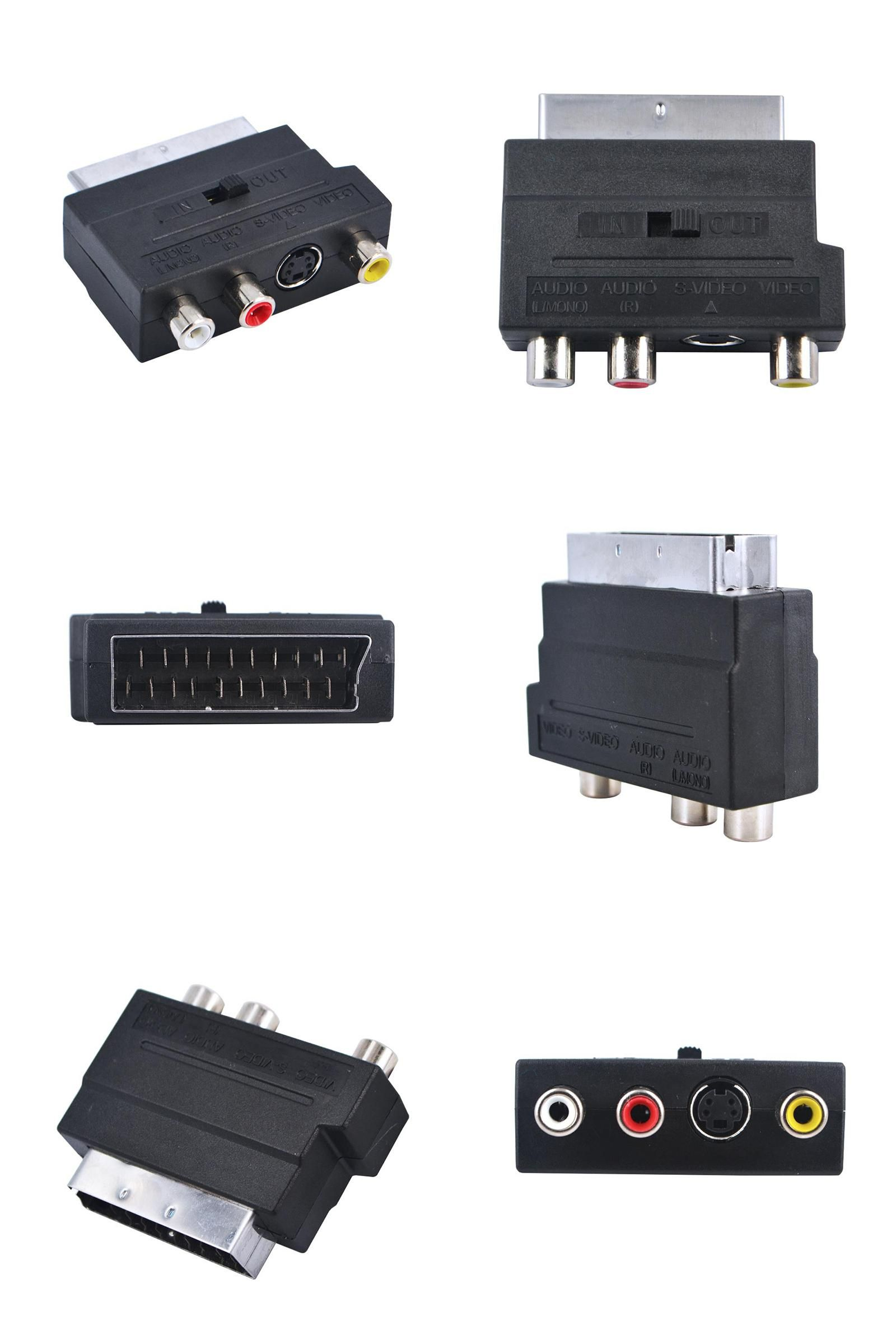 [Visit to Buy] 2016 RGB SCART to Composite 3 RCA SVHS S-Video