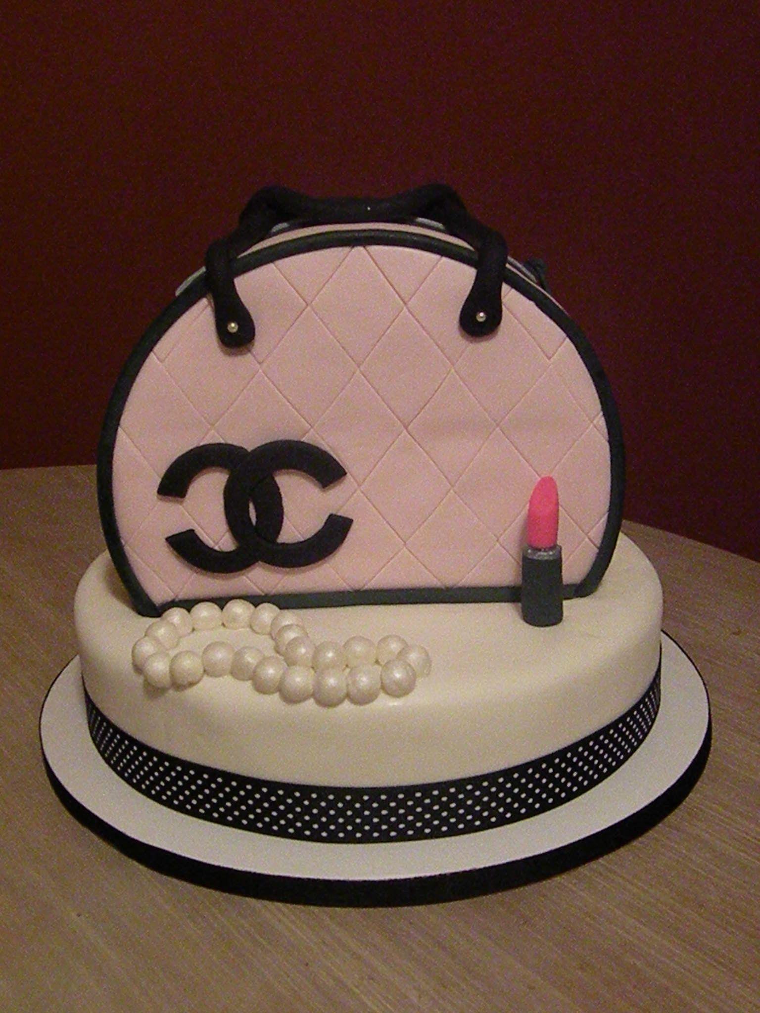 Pink   Black Chanel purse cake - my first purse cake!  a7fb044252513