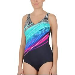 arena Ren One Piece Swimsuit Damen black-pix blue-turquoise De 34   Us 30 2019 Schwimmanzüge & Bikin #corsages