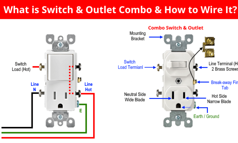 How To Wire Combo Switch Outlet Combo Device Wiring In 2020 Switch Earthing Grounding Outlet