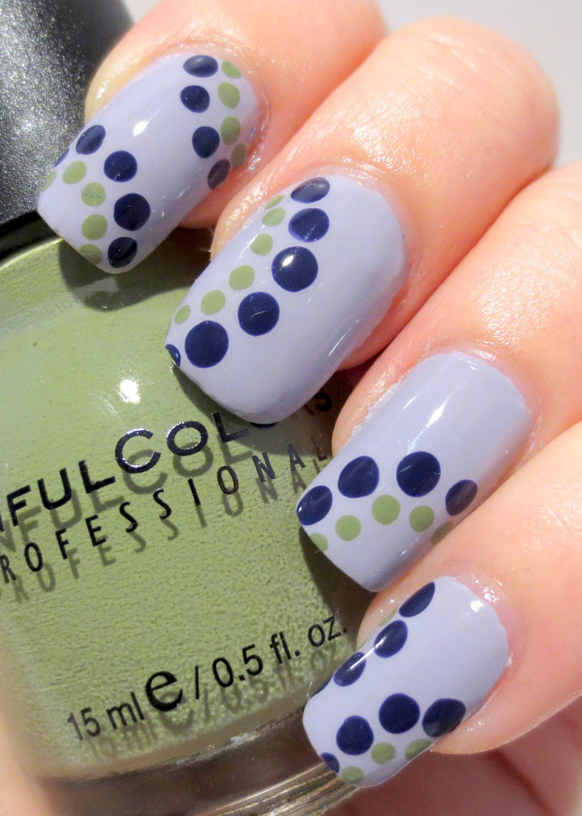 Galactic Lacquer: Sinful Colors - Dots with Mauve   Galactic Lacquer ...