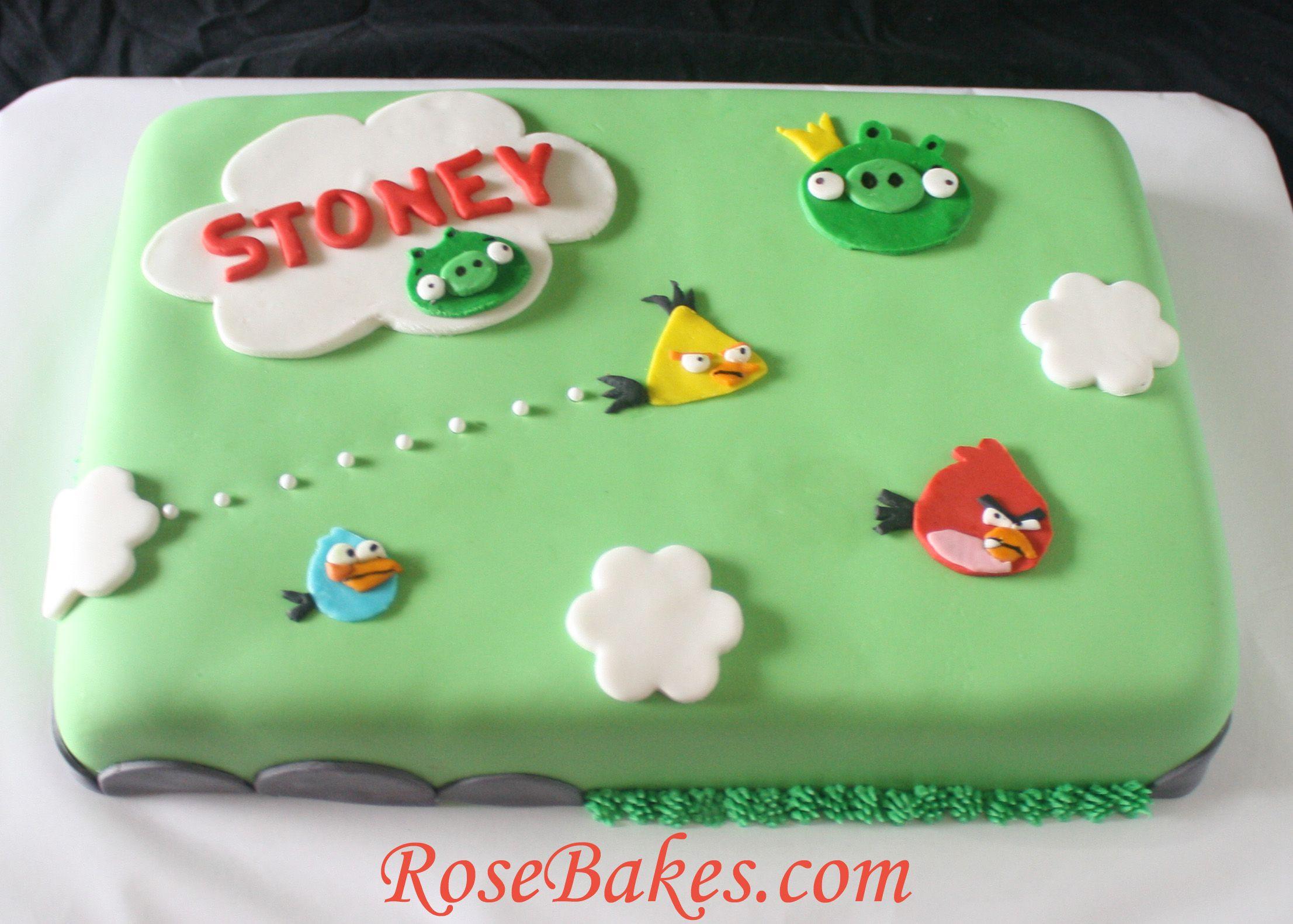 Angry Birds Birthday Cake Google Search Cakes Pinterest