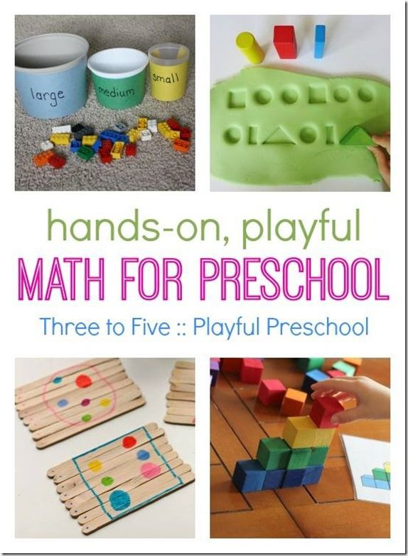 Playful Preschool Learning Ideas For Home School Math