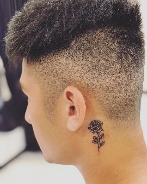 Pin By Kevin Vidales On Tatuajes In 2020 Rose Tattoos For Men Rose Tattoos Small Neck Tattoos