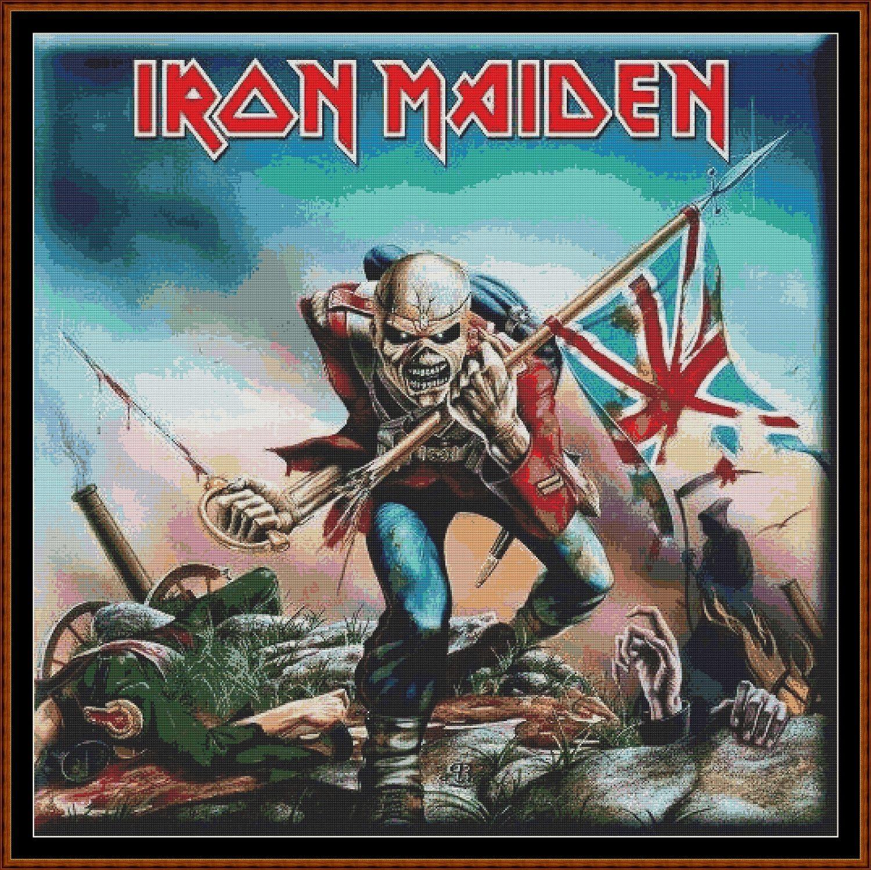 Iron Maiden The Trooper Cross Stitch Iron Maiden The Trooper The Trooper Iron Maiden