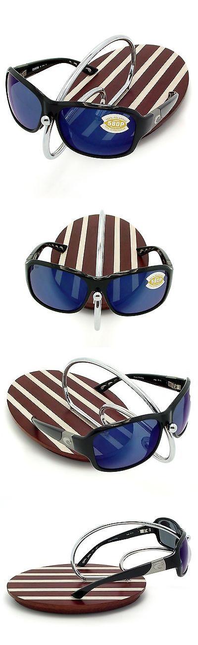 6448798b703 Sunglasses 151543  New Costa Del Mar Inlet Black 580 Blue Mirror Plastic  580P -