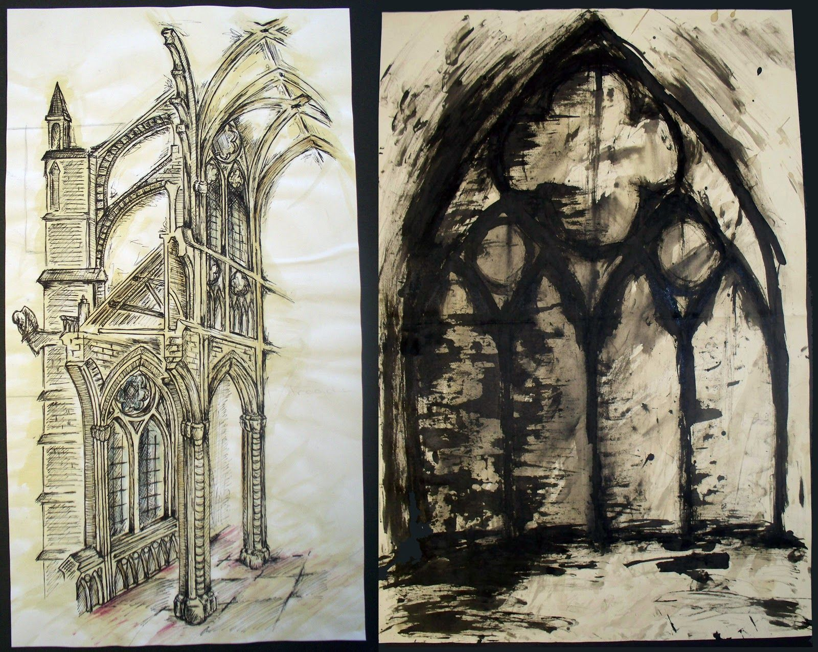 Gothic Architecture Drawing Design Simple Architectural Studies