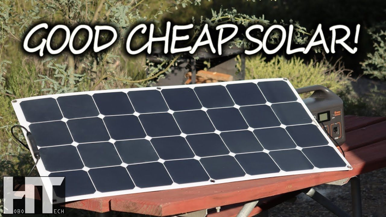 A Quality Flexible Solar Panel On A Budget 100 Watt Bouge Rv Portable Panel Review Youtube In 2020 Flexible Solar Panels Solar Solar Panels