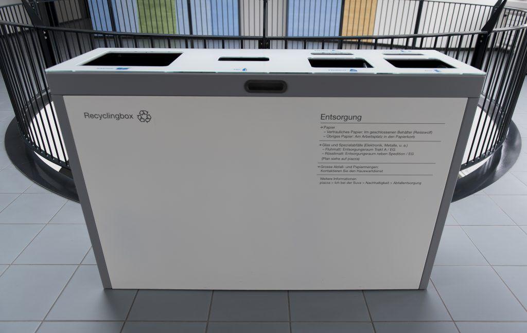 Recyclingstation, Recyclingstation Innen, Recyclingstation Büro - abfallbehälter für die küche