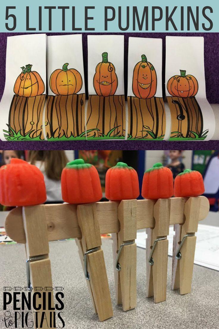 5 Little Pumpkins - STEM, ELA, Crafts, Math, & More! - Pencils to Pigtails