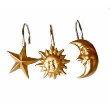 shower bath bathroom celestial moon star curtain hook ring decor new