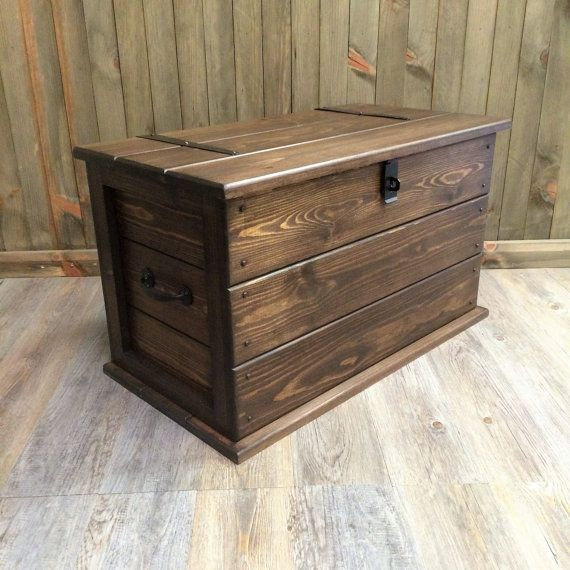 Marvelous Handmade Solid Pine Storage Trunk Chest Rustic Farmhouse Toy