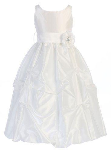 Wonder Girl Flower S-Band Taffeta Long Tea Length Flower Girl Dress 14 White Wonder Girl,http://www.amazon.com/dp/B00A4OJ64I/ref=cm_sw_r_pi_dp_REFTsb1ABYAST19X