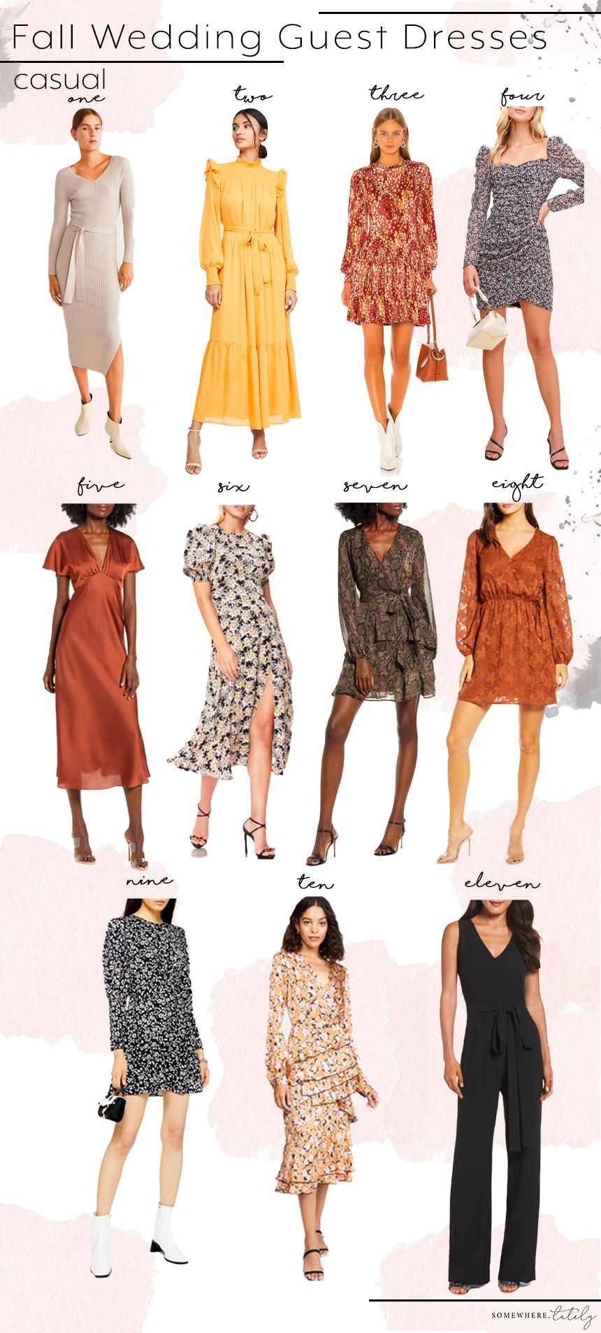 Fall Wedding Guest Dress Roundup Fall wedding outfits