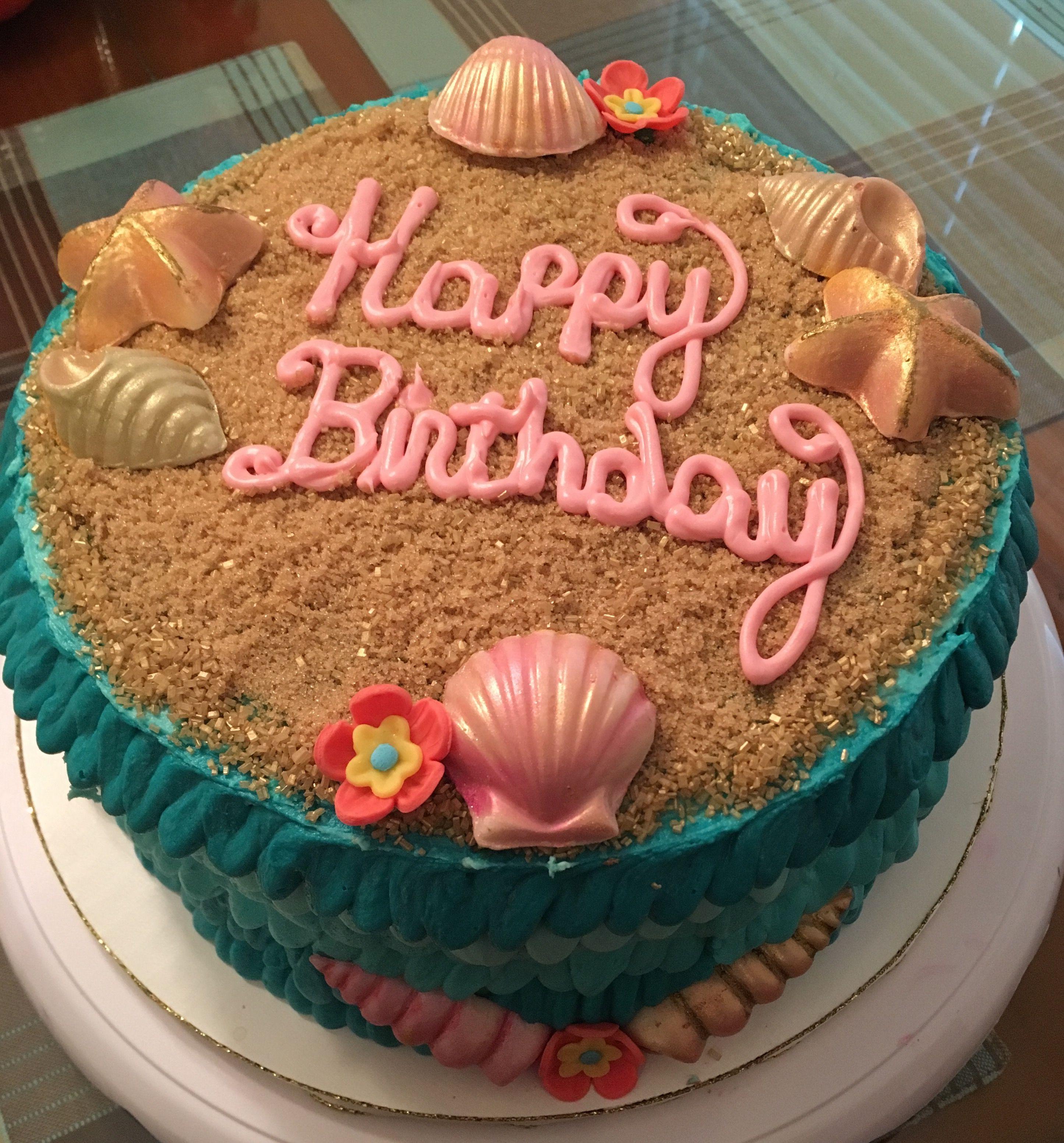 Seashell Birthday Cake Kristinas Cake Kreations Pinterest