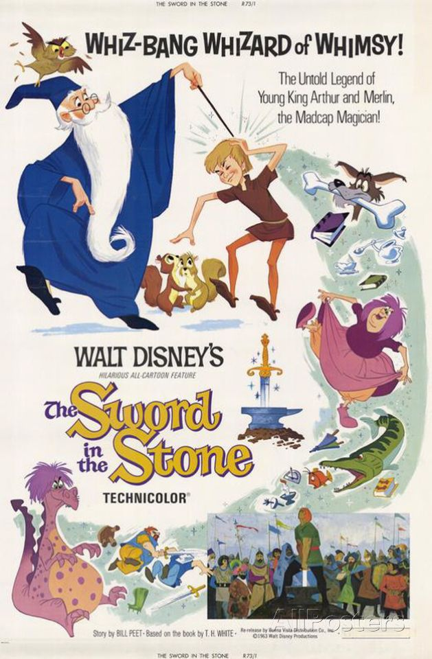 The Sword in the Stone Prints is part of Walt disney animated movies, Disney animated movies, Animated movie posters, Disney movie posters, Walt disney animation, Disney posters -