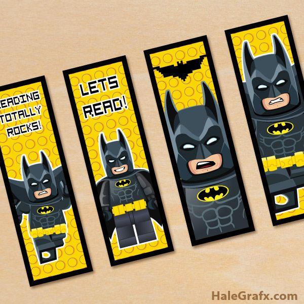 Free Printable Lego Batman Bookmarks Imprimir Escuela