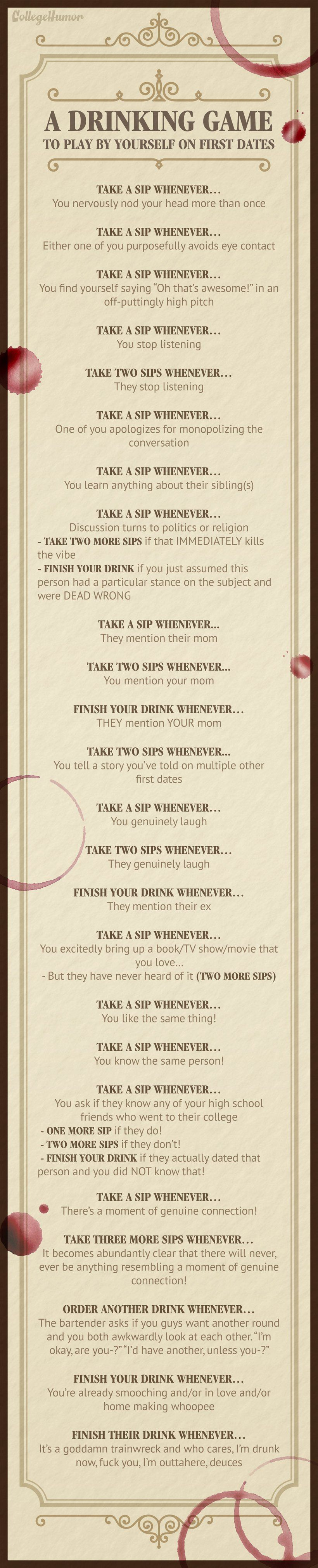 Here's A Drinking Game You Can Play By Yourself On Awkward