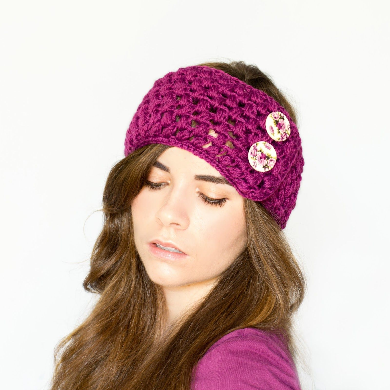 Puff Stitch Ear Warmer Crochet Pattern | Hopeful honey, Crochet ...