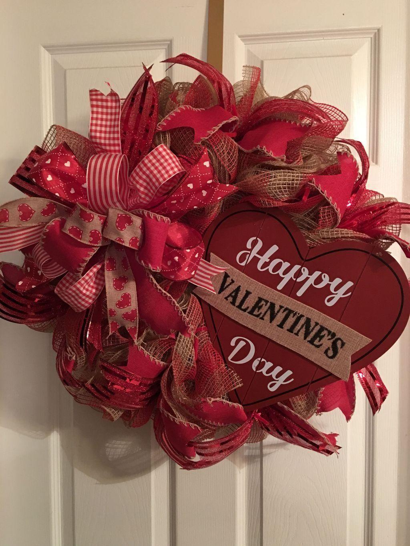 34 The Best Valentine Door Decorations Magzhouse Valentine Wreath Diy Diy Valentines Day Wreath Valentines Door Hanger