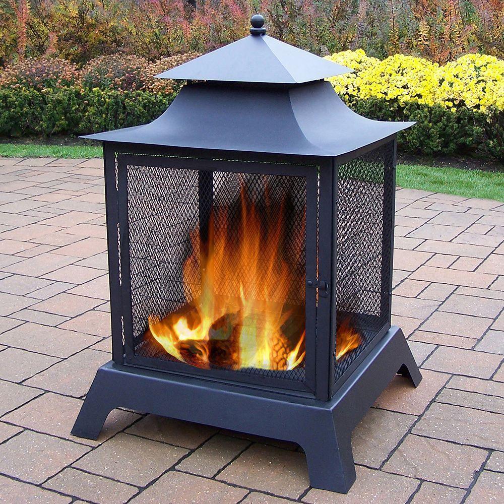 Full view fire pit iron fire pit outdoor fire backyard