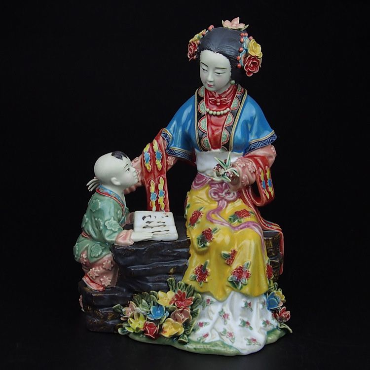 Find More Pottery Enamel Information About Painted New Real Christmas Figurine Antique Porcelain Chinese Style Art Manua Art Buying Paint Porcelain Figurines