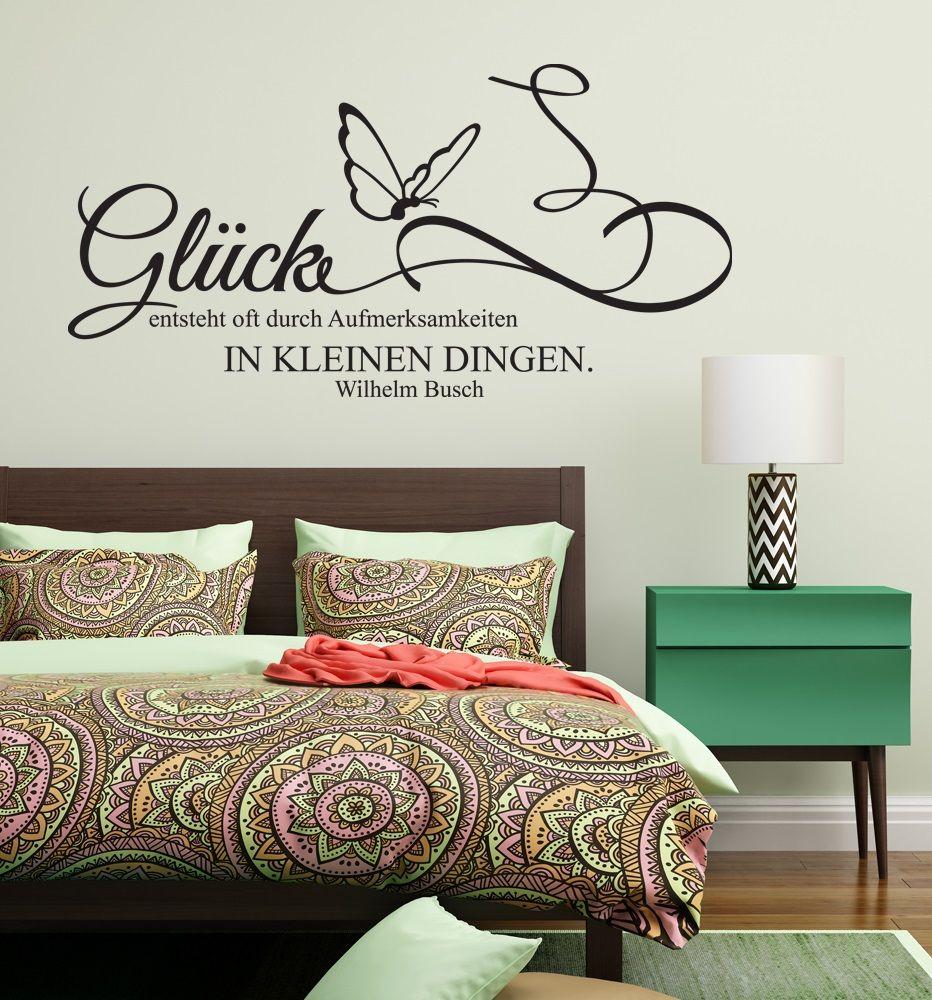 """Attractive Sprüche Mit Glück Decoration Of Wandaufkleber, Wandtattoo, Wandsticker Zitat Spruch Sprüche """"wilhelm"""
