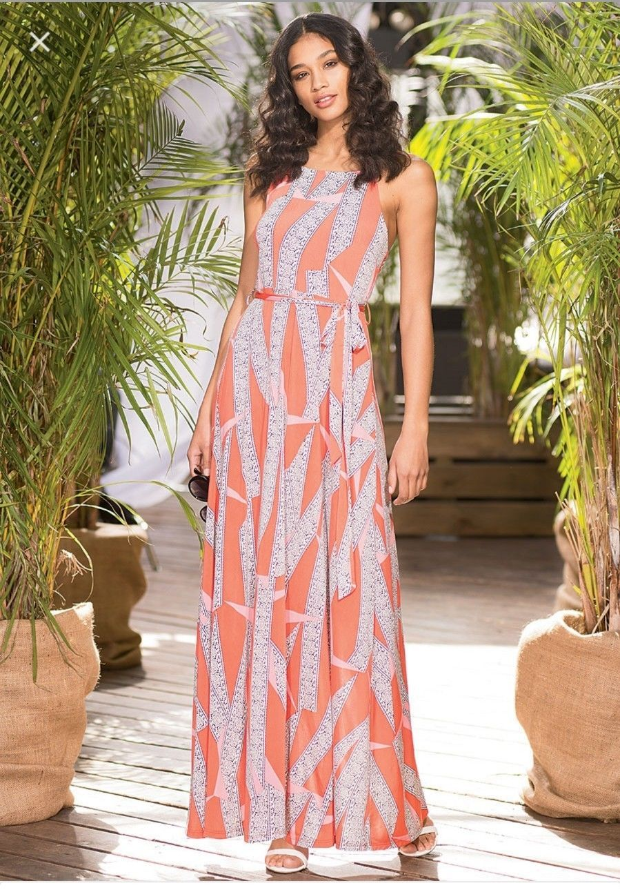 Awesome alloy plus size monet belted extra long maxi dress size x