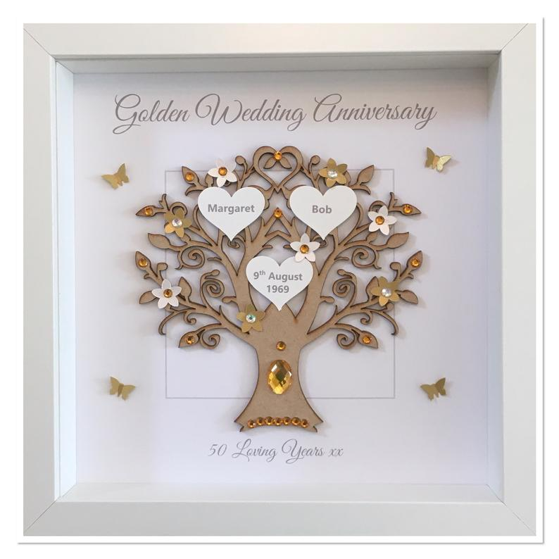 Personalised Message 50th Golden Wedding Anniversary Family Etsy Golden Wedding Golden Wedding Anniversary Golden Anniversary Gifts