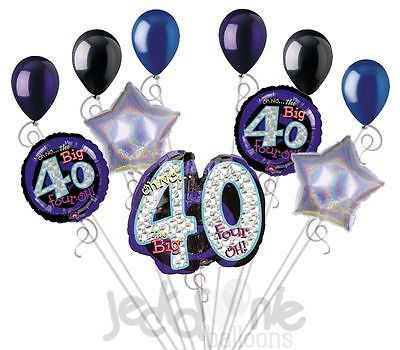 11 Pc Oh No The Big 40 Happy Birthday Balloon Bouquet Decoration Party 40th