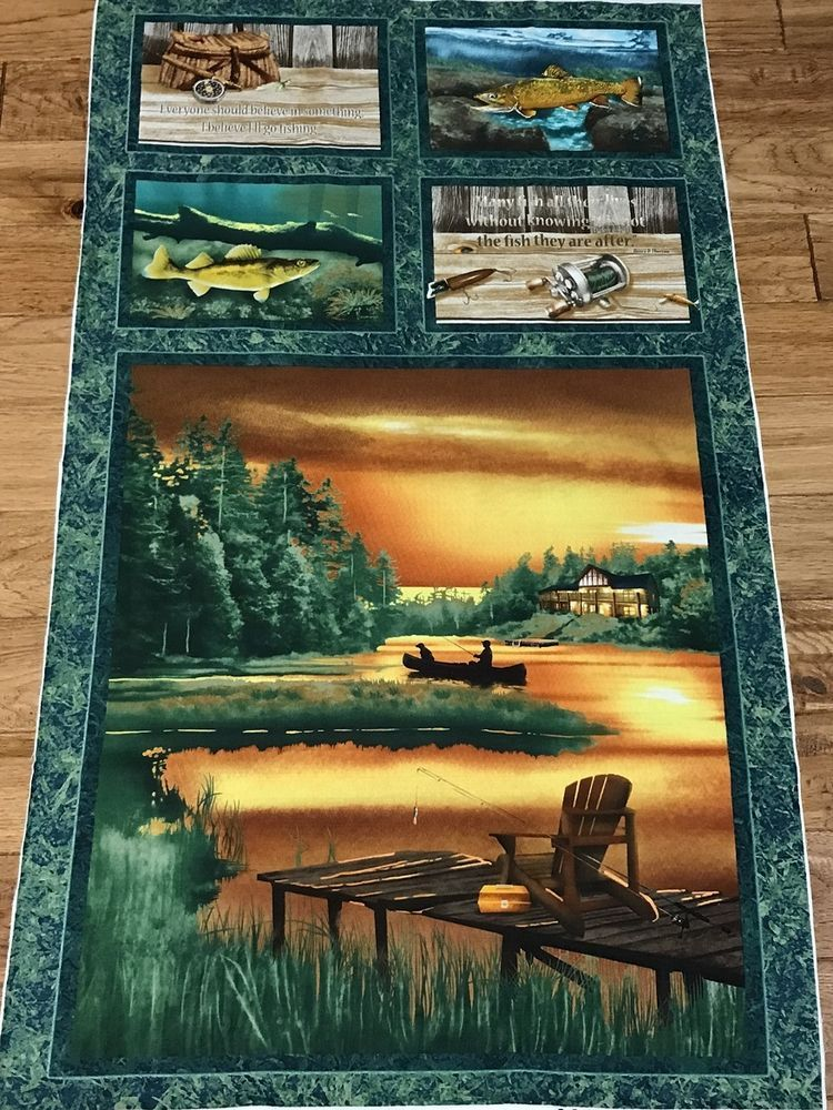 Fish Panels Landscape Quilts Fabric Panel Quilts Wildlife Quilts