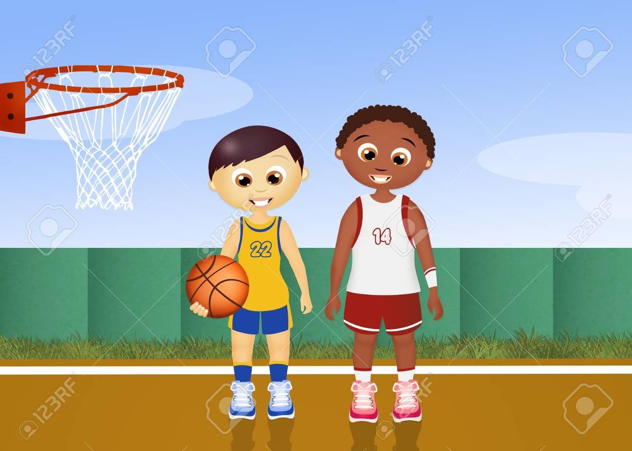 Children Play Basketball Spon Children Play Basketball Kids Playing Flyer Design Art Design