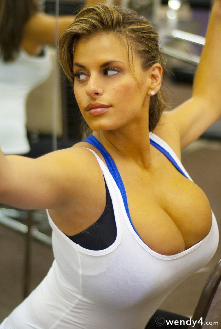 Sports bra big tits