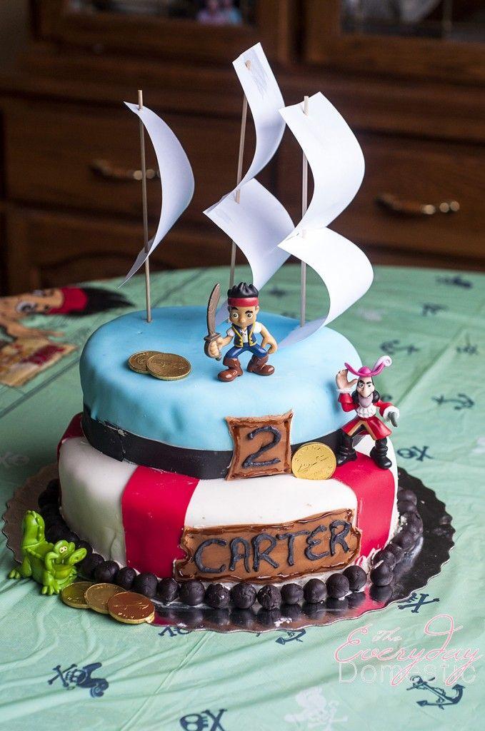 Swell Jake And The Neverland Pirates Cake Pirate Birthday Cake Pirate Personalised Birthday Cards Fashionlily Jamesorg