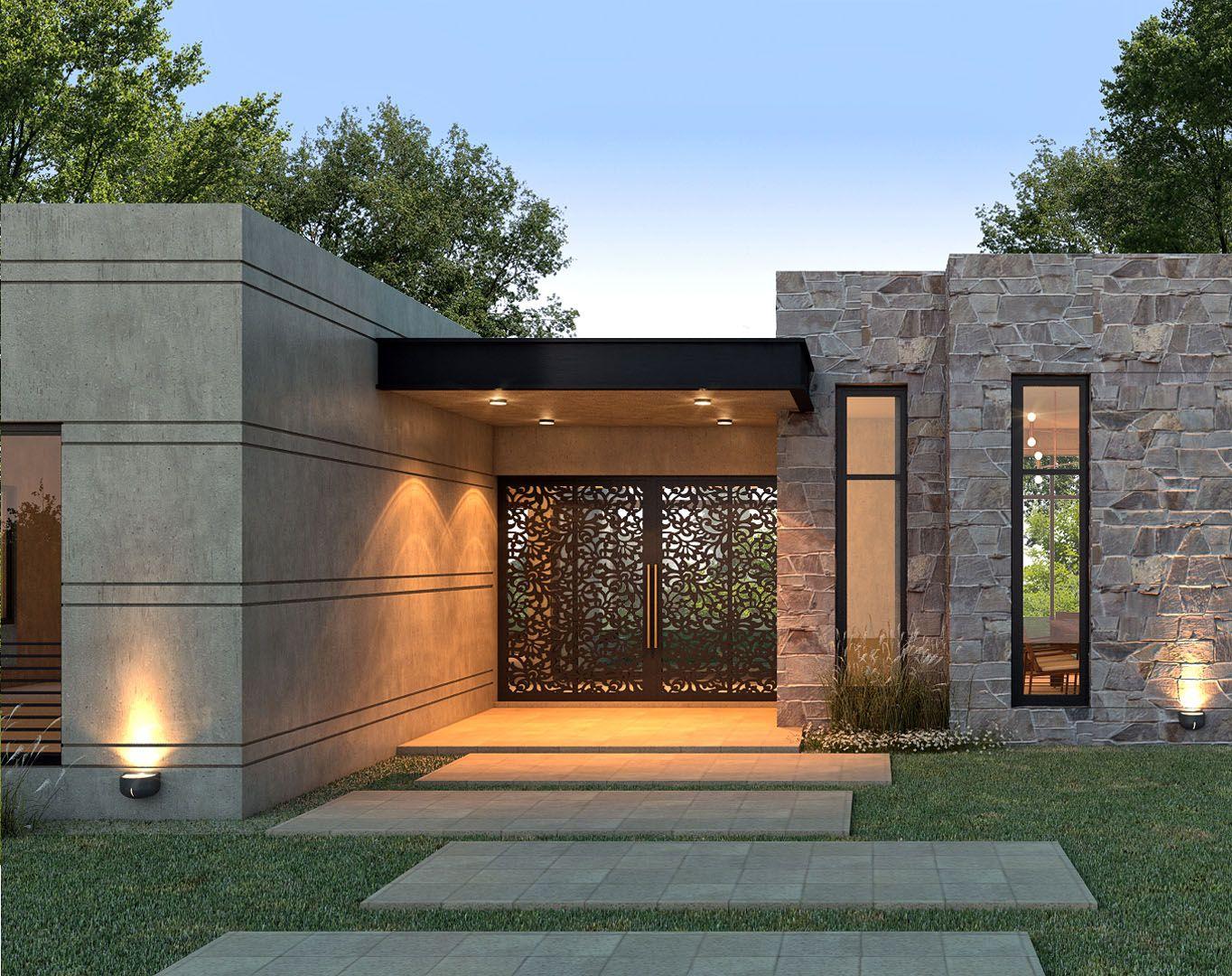 Ingresso Casa Esterno In Pietra nf arquitecta, casa la macarena | design esterno di casa