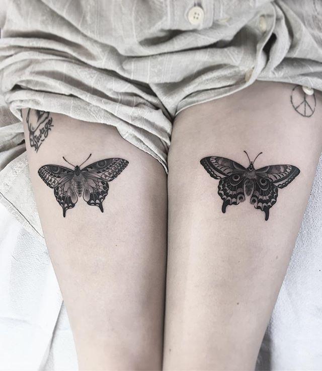 B6913fc495f6c764150111f4bdfdec09 Jpg 640 737 Butterfly Tattoos For Women Thigh Tattoos Women Thigh Tattoo
