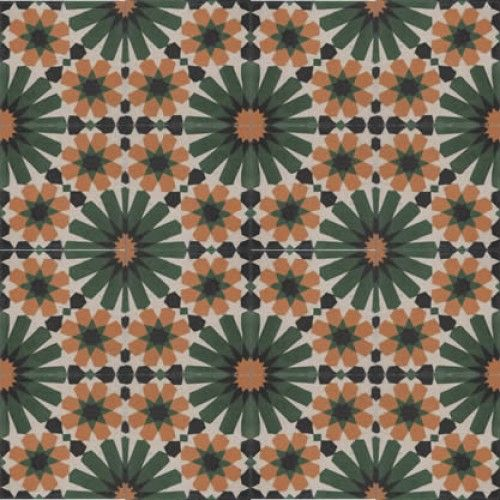 Moroccan Encaustic Cement Pattern 19c | £2.71 | Moroccan Cement Tiles | Best Tile UK | Moroccan Tiles | Cement Tiles | Encaustic Tiles | Met...
