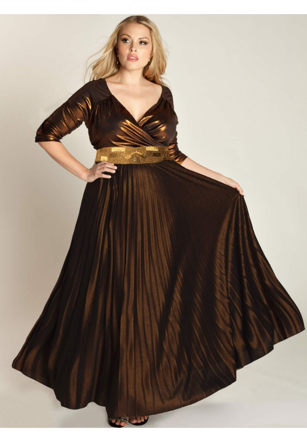 Plus Size Antoinette Gown in Copper image | Plus-Size-ME!, Fashion ...