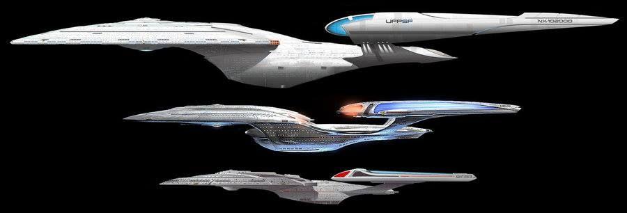 U.S.S. Enterprise NCC 1701 E NCC 1701 F NCC 1701 G Star